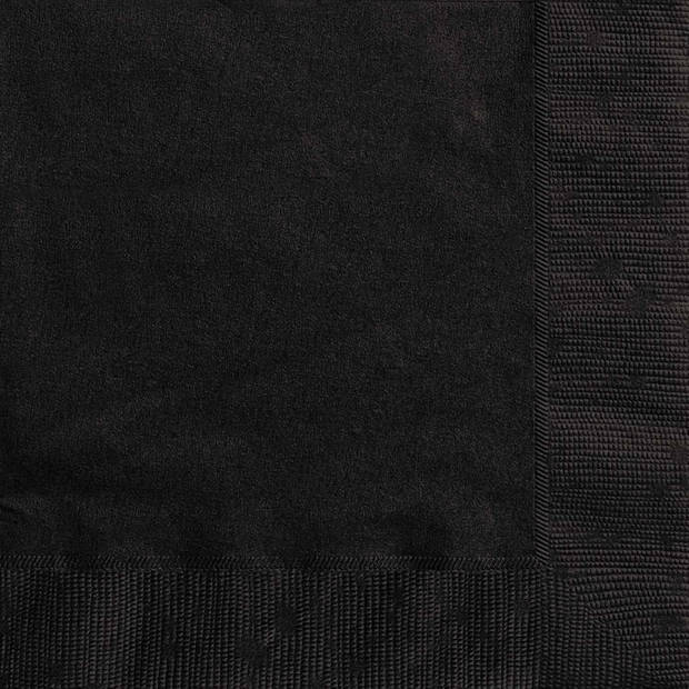 Haza Original servetten zwart 17 x 17 cm 20 stuks