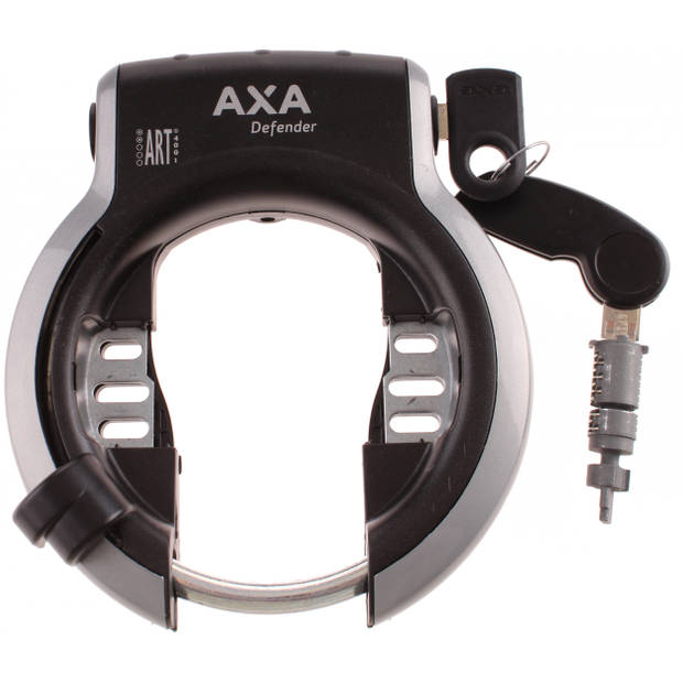 AXA ringslot en accuslot Defender ART-2 zwart/grijs