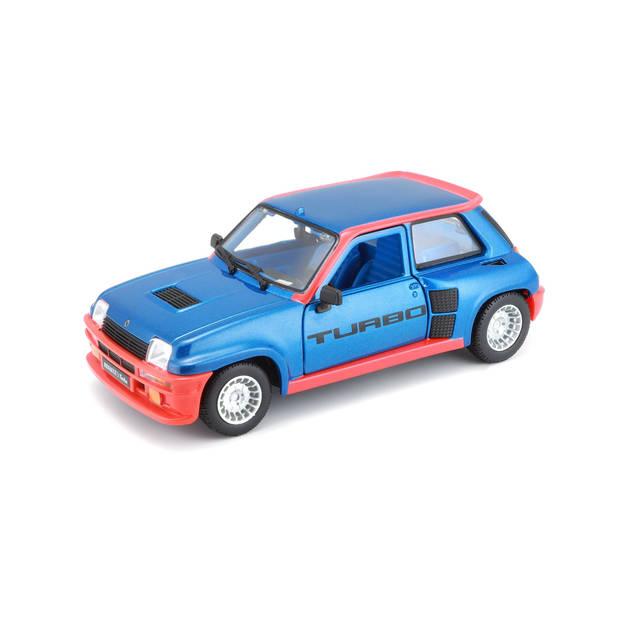 Bburago schaalmodel Renault 5 TURBO 1982 1:24 blauw