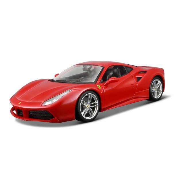 Bburago schaalmodel Ferrari 488 GTB 1:18 rood