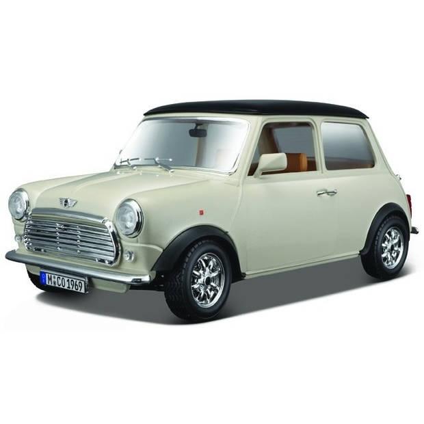 Bburago schaalmodel Mini Cooper 1969 1:16 beige