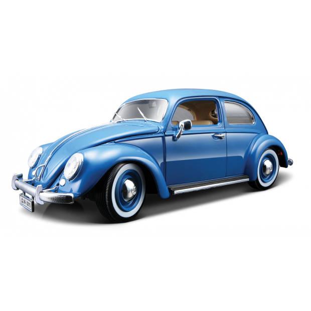 Bburago schaalmodel Volkswagen Kever 1955 1:18 blauw