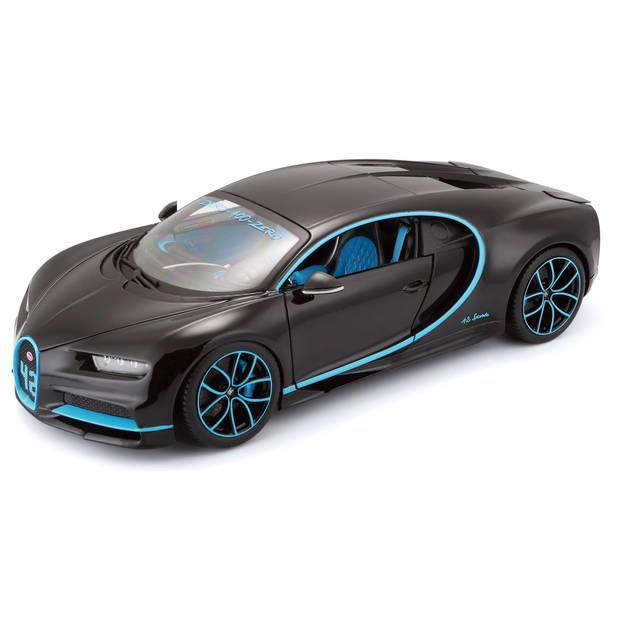 Bburago schaalmodel Bugatti Chiron Montoya #42 1:18 zwart