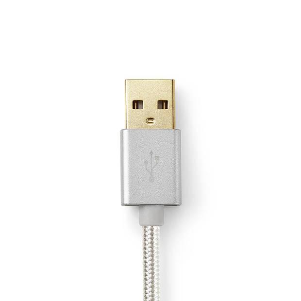 Nedis USB 2.0 kabel USB-C USB-A 2 mtr aluminium