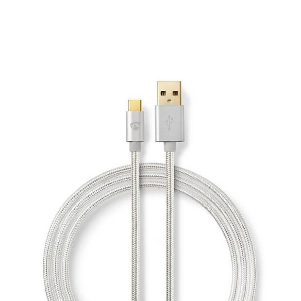 Nedis USB 2.0 kabel USB-C USB-A 3 mtr aluminium