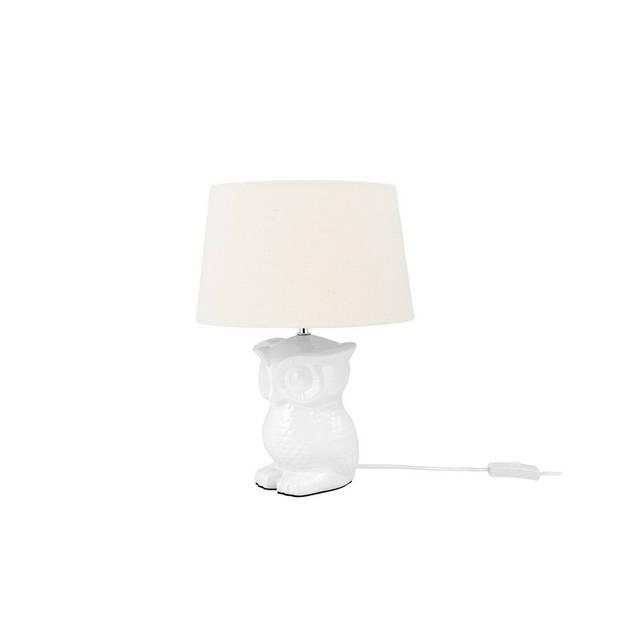 Beliani OWL Tafellamp Keramiek 30 x 30 cm