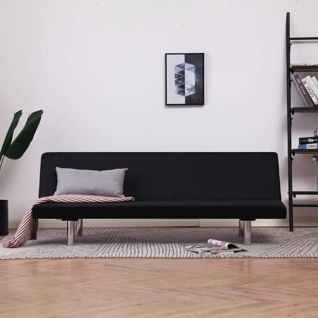 vidaXL Slaapbank polyester zwart