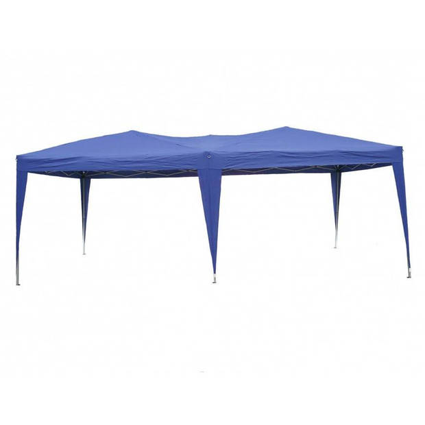 Partytent Easy Up 3x6m opvouwbaar blauw
