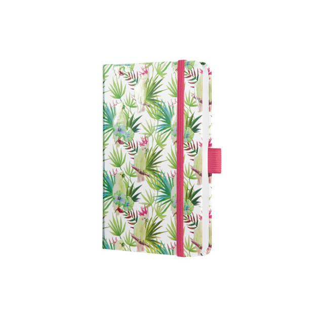 Notitieboek Sigel Jolie Beauty A6 hardcover gelinieerd 'Limegreen tropics'