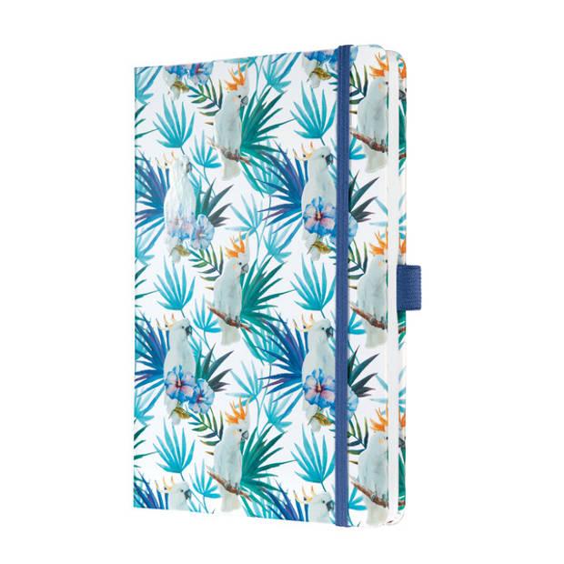 Notitieboek Sigel Jolie Beauty A5 hardcover gelinieerd 'Indigo tropics'