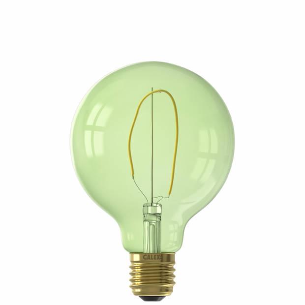 Calex LED-lamp E27 4W - Globe Emerald Green dimbaar