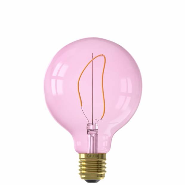 Calex LED-lamp E27 4W - Globelamp Quartz Pink dimbaar