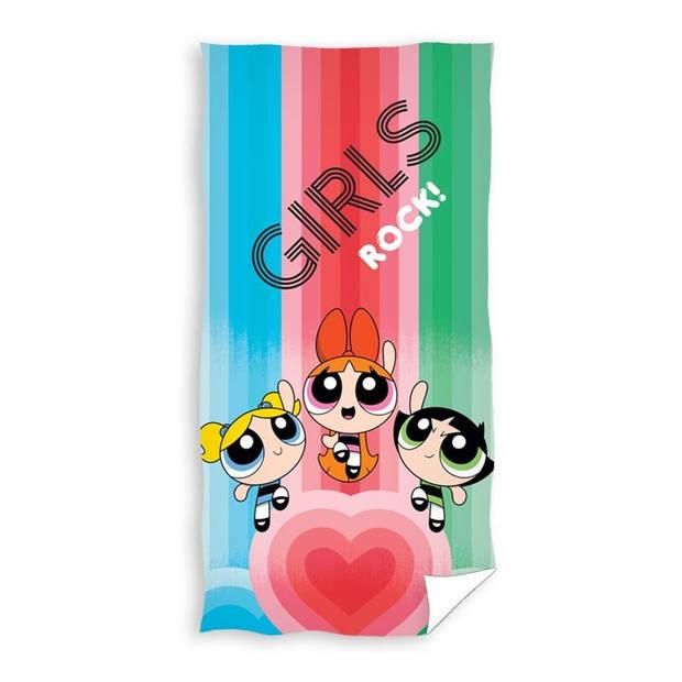 Powerpuff Girls strandlaken - 100% katoen - 70x140 cm - Multi