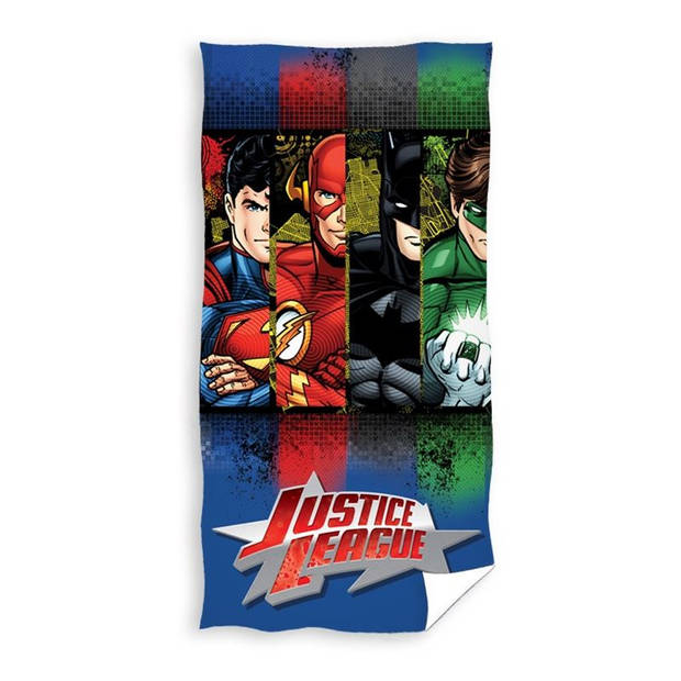 DC Comics Justice League strandlaken - 100% katoen - 70x140 cm - Multi