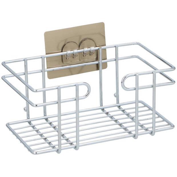 Shampoorekje/doucherekje 1 plank aan zelfklevende plaat 23 cm - Badkamerrekje/badkamer accessoires