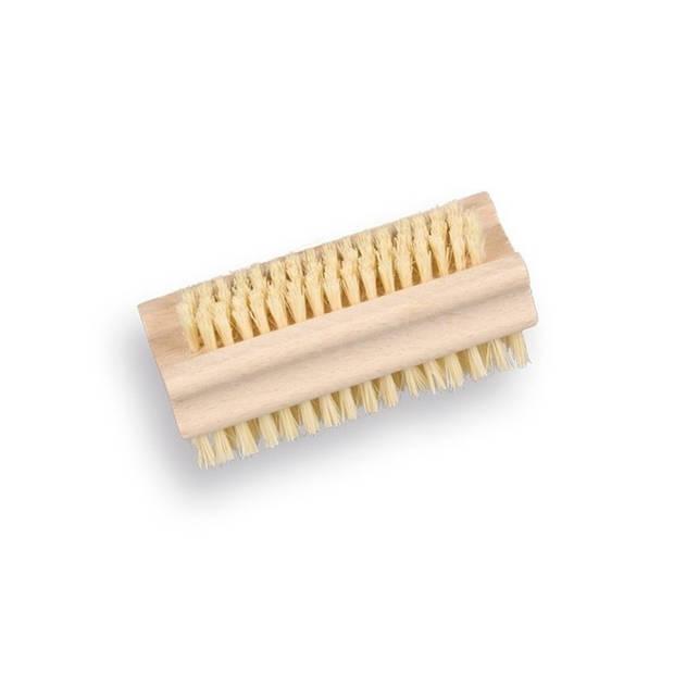 Houten nagelborstel dubbelzijdig 9,5 cm