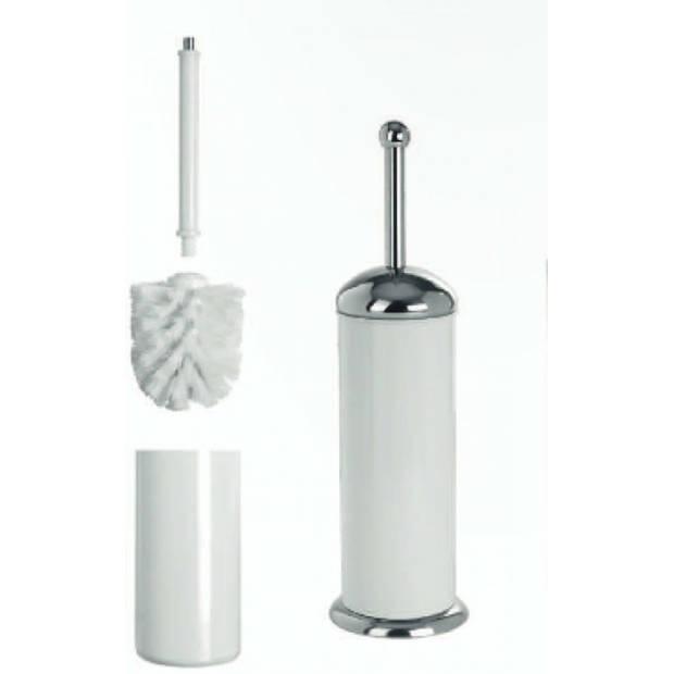 Artex Wc borstel met houder - wit - Ø 12 cm