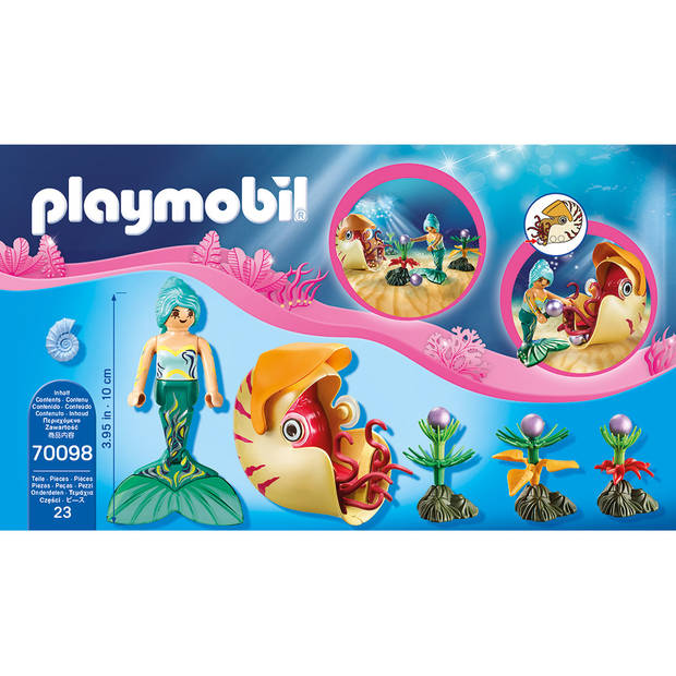 PLAYMOBIL Magic zeemeermin met zeeslakkengondel 70098