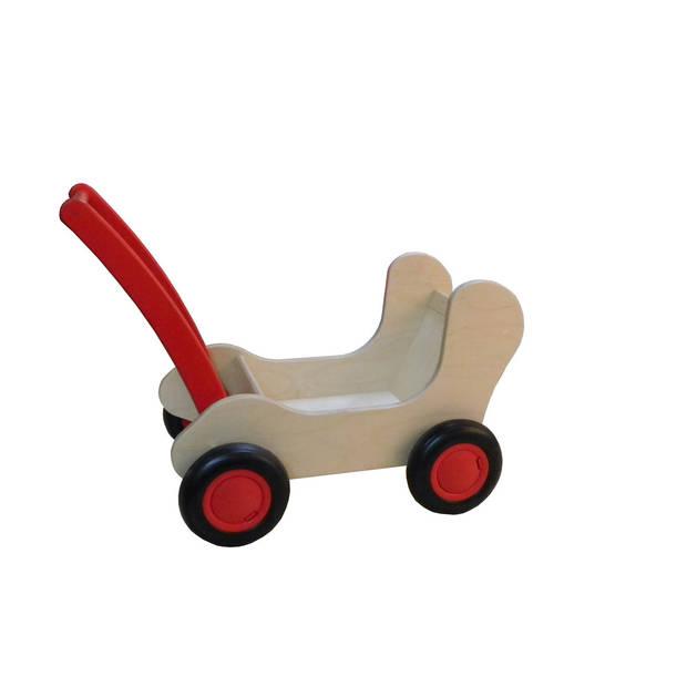 Van Dijk Toys Combi poppenwagen rood
