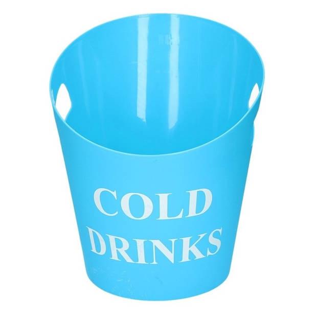 IJs/drank koelemmer met handvat blauw - Dranken/champagne koelers