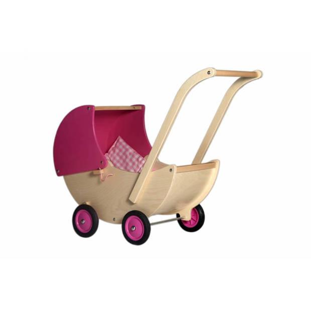 Van Dijk Toys Van Dijk Poppenwagen roze