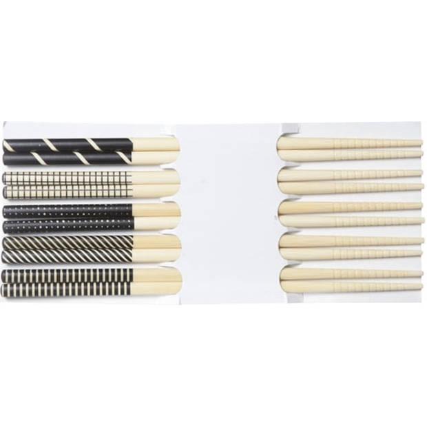 Cosy & Trendy Chopsticks - Zwart - 22,5 cm - 5 Stuks