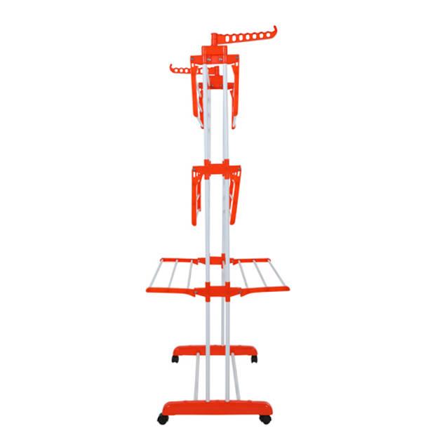 Herzberg XXL Opvouwbaar Wasrek – Voor 20 Meter Aan Ruimte – Oranje
