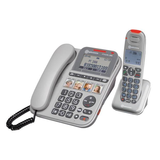 amplicomms senioren combi vaste + dect telefoon powertel 2880