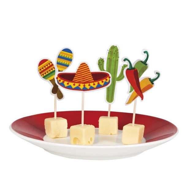 Boland cocktailprikkers Mexico Fiesta 12 stuks
