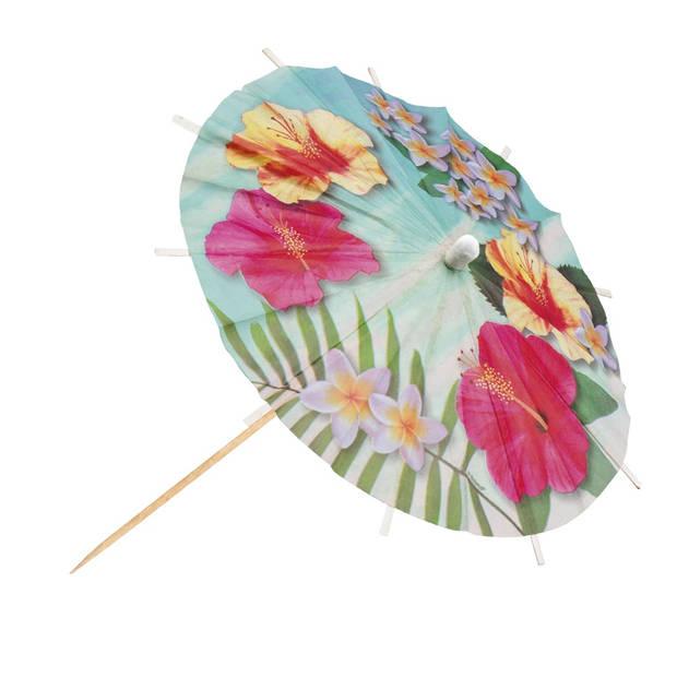 Boland cocktailprikkers parasol Paradise 6 stuks