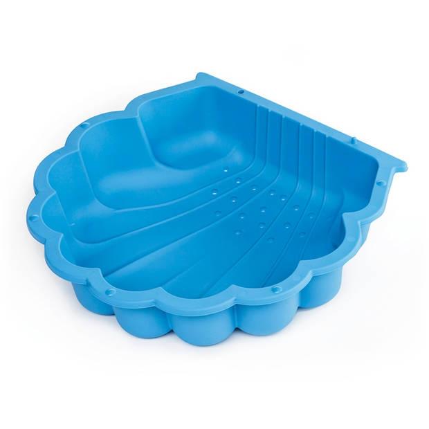Paradiso Toys zandbak met afdekhoes schelp 87 x 78 cm blauw