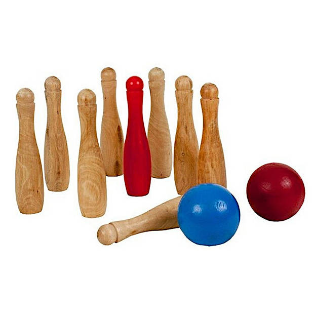 Outdoor Play houten bowlingset 11-delig