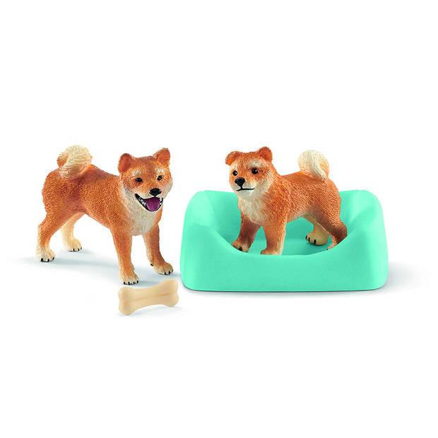 Schleich Boerderij - Shiba Inu Moeder En Pup 42479
