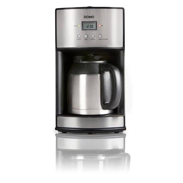 Domo DO474K - Koffiezetapparaat met thermoskan - 1,2L - Timer - RVS