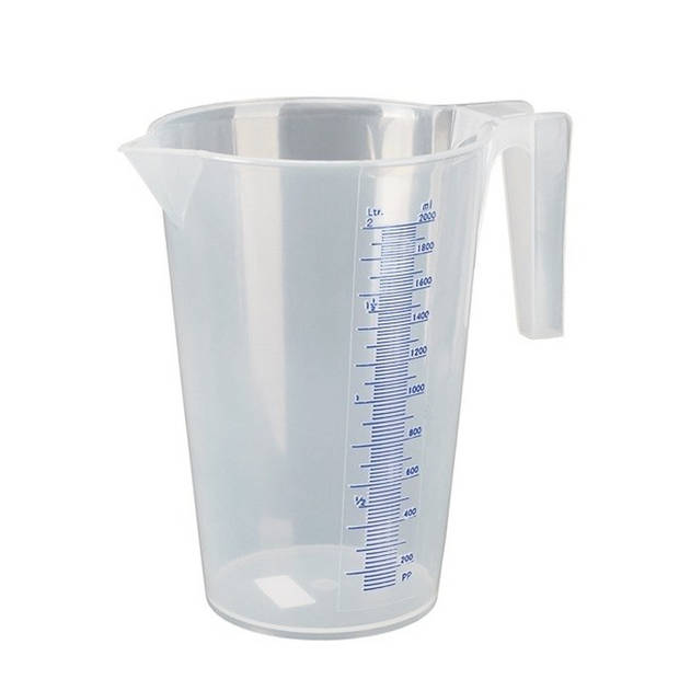 Maatbeker 2 liter transparant kunststof - Keuken accessoires en benodigdheden