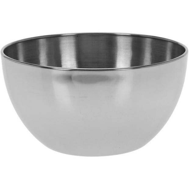 Salade schaaltje RVS - Serveerschalen/schalen RVS 13 cm