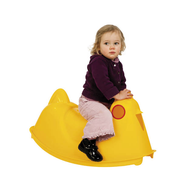 Paradiso Toys rolwip kip geel 78 cm