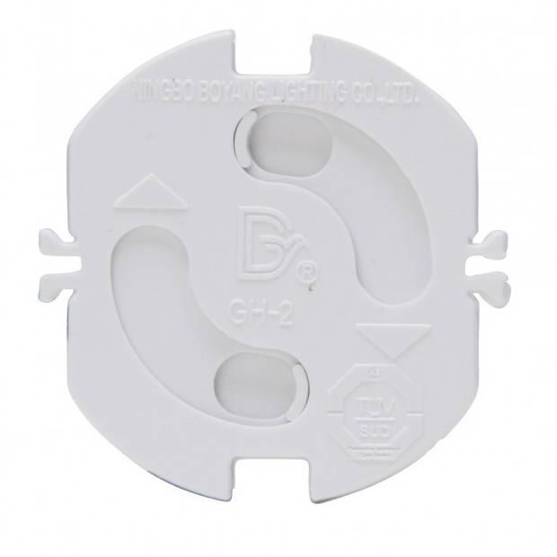 4x Stopcontact beveiliging klem / stopcontactbeveiligers wit met randaarde