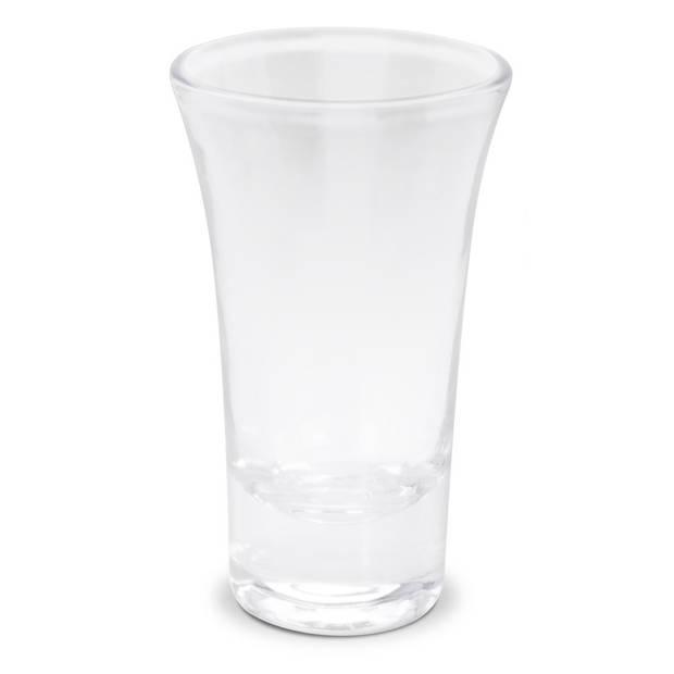 3x Borrel glazen 85 ml