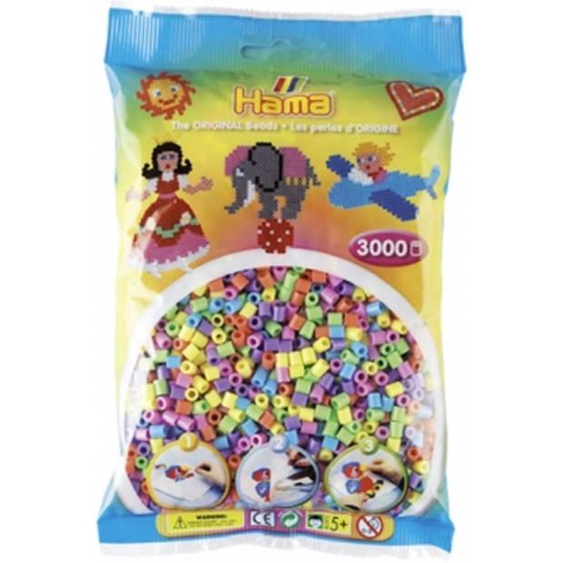 Hama strijkkralen 3000 stuks pastelkleuren mix