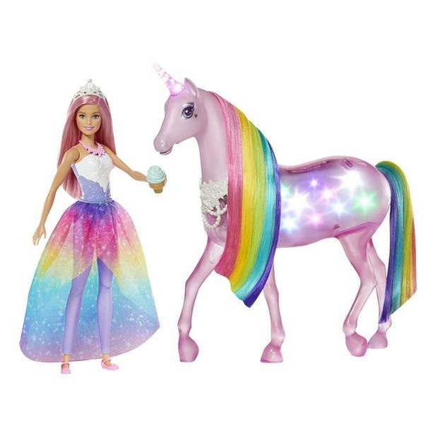 Barbie speelset Dreamtopia Prinses met eenhoorn roze 2-delig