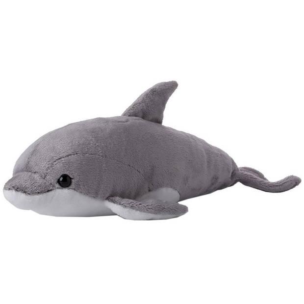 WWF pluchen knuffel dolfijn 39 cm grijs