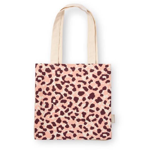 Draag Tas Pink Leopard