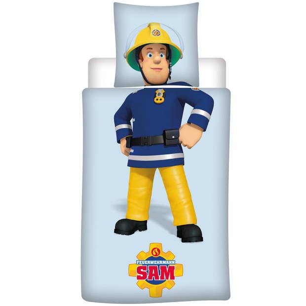 Brandweerman Sam Sam - Dekbedovertrek - Eenpersoons - 140 x 200 cm - Polyester
