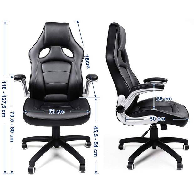 Luxe Design Manager Bureaustoel - Ergonomische Directie Managerstoel - Ergonomisch Kunst Leder - Zware Belasting