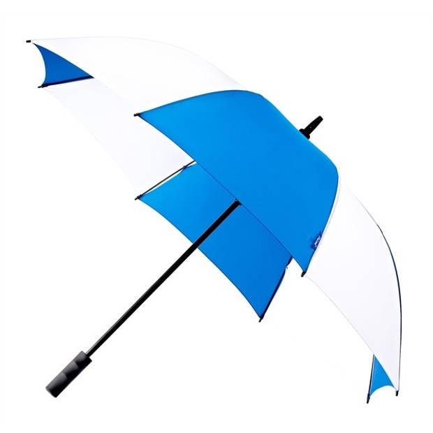 Falcone golfparaplu automatisch windproof 120 cm blauw/wit