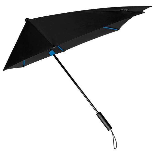 Impliva stormparaplu STORMaxi handopening 100 cm zwart/blauw