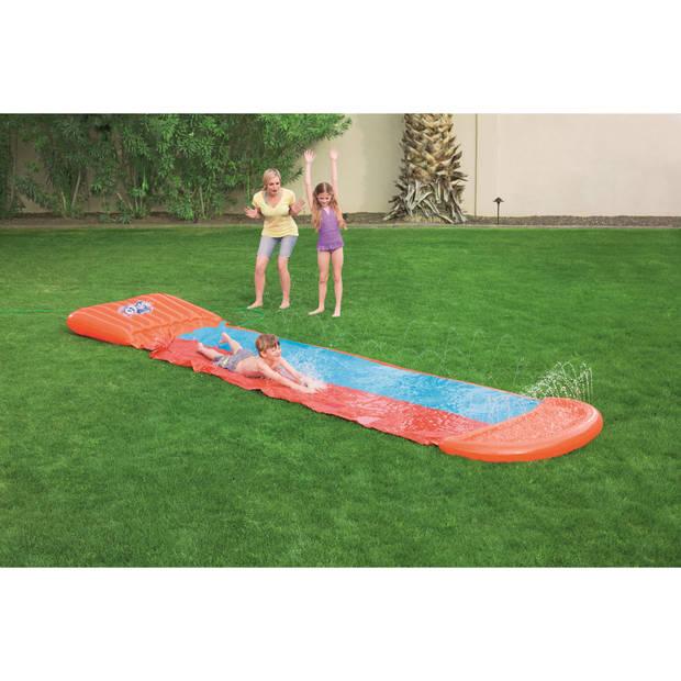 H2OGO! waterglijbaan double slide helling