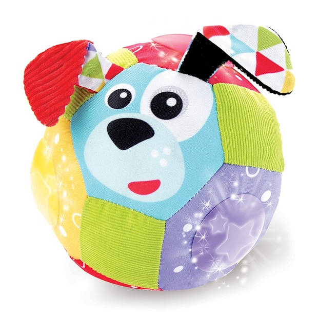 Yookidoo speelbal Lights 'N' Music Fun dierengezichten 14 cm