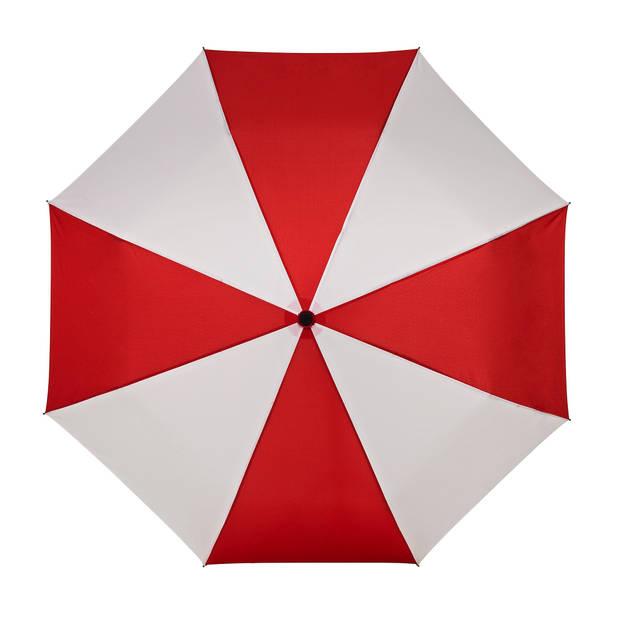 miniMAX paraplu windproof handopening 98 cm rood/wit